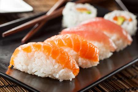 nigiri: Healthy Japanese Nigiri Sushi with Rice and Fish