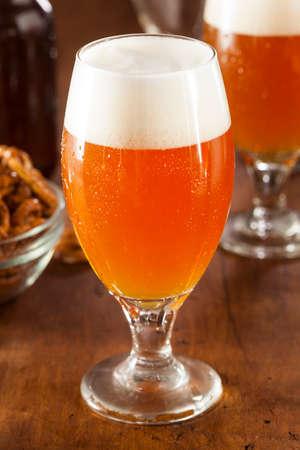 ipa: Refreshing Belgian Amber Ale Beer in a Glass