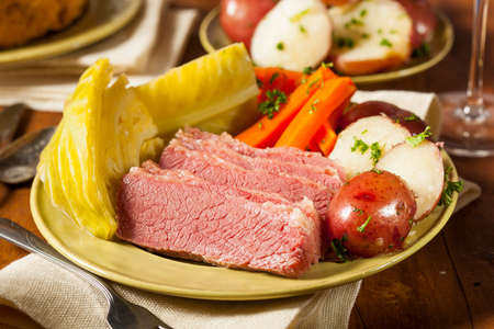 the cabbage: Homemade Corned Beef and Cabbage with Potatoes and Carrots