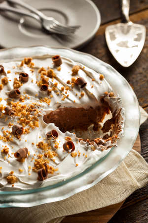 cream pie: Homemade Chocolate Cream Pie with Cookie Crumbles