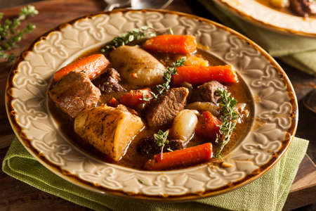 Homemade Irish Beef Stew with Carrots and Potatoes