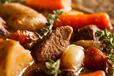 Homemade Irish Beef Stew with Carrots and Potatoes photo