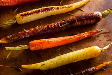multi coloured: Colorful Multi Colored Roasted Carrots