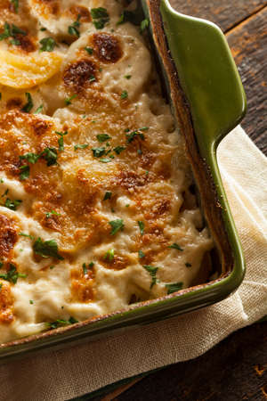 scalloped: Homemade Cheesey Scalloped Potatoes with Parsley Flakes
