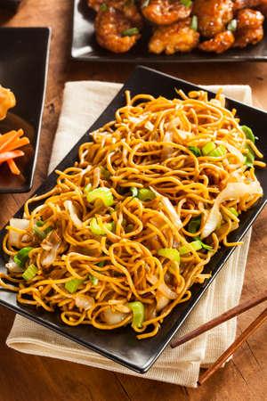 野菜と箸アジア焼きそば麺 写真素材