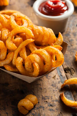 Spicy Seasoned Curly Fries Ready to Eat photo