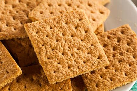 galletas integrales: Healthy Miel Galletas Graham en una placa