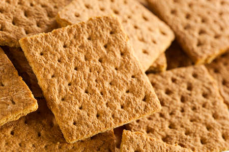 graham: Healthy Honey Graham Crackers on a Plate