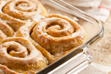 Homemade Cinnamon Roll Sticky Buns with Icing photo