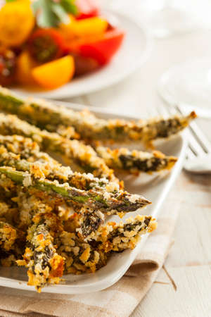 Homemade Panko Breaded Asparagus with Assorted Spices photo