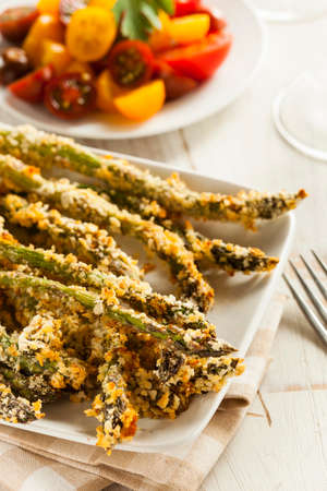 crust crusty: Homemade Panko Breaded Asparagus with Assorted Spices