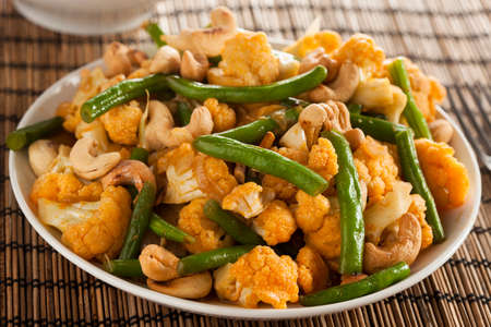 Spicy Thai Cauliflower and Beans Stir Fry photo