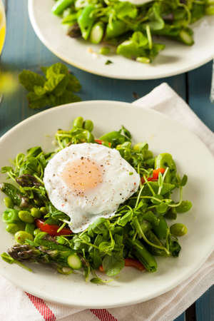 poached: Healthy Scafata with a Poached Egg and Asparagus