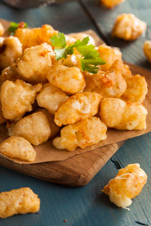 cottage cheese: Beer Battered Wisconsin Cheese Curds with Dipping Sauce