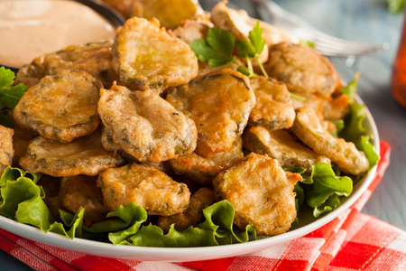 pickles: Delicious Battered Fried Pickles with Dipping Sauce