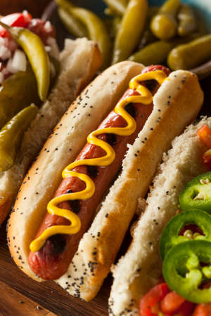 hots: Gourmet Grilled All Beef Hots Dogs with Sides and Chips