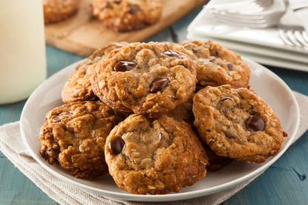 chocolate chip cookies: Homemade Chocolate Chip Cookies with White Milk