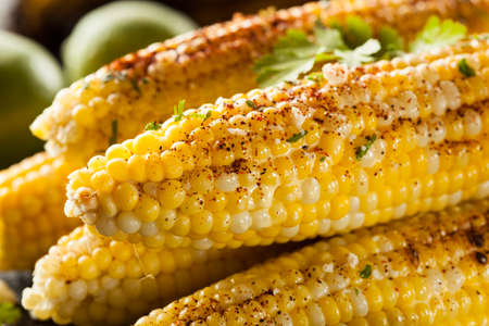 Delicious Grilled Mexican Corn with Chili, Cilantro, and Lime photo