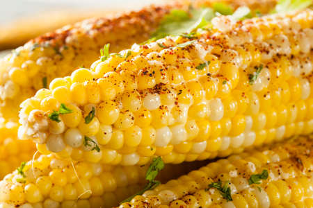 sweetcorn: Delicious Grilled Mexican Corn with Chili, Cilantro, and Lime