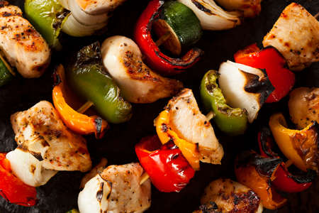 shish: Homemade Chicken Shish Kabobs with Peppers and Onions