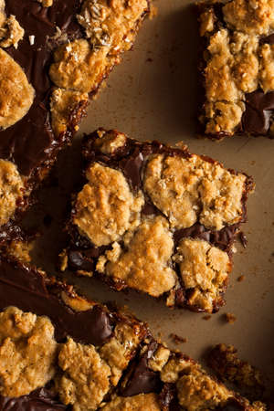 revel: Homemade Chocolate Revel Brownie Bars Ready to Eat Stock Photo