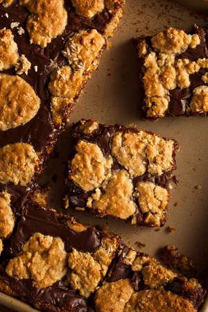 revel: Homemade Chocolate Revel Brownie Bars Ready to Eat Stock Photo