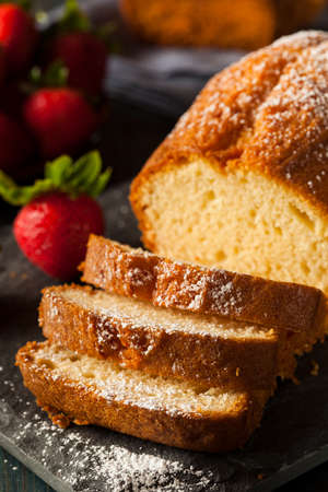 Homemade Pound Cake with Strawberries and Cream Stock fotó - 30004684