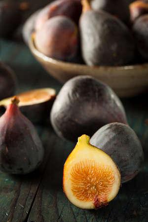 Raw Purple Organic Figs on a Background