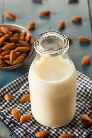 Organic White Almond Milk in a Jug Stok Fotoğraf - 30365300
