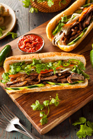 crust crusty: Vietnamese Pork Banh Mi Sandwich with Cilantro and Daikon