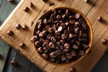有機ダーク チョコレート チップを焼く準備 写真素材 - 30359541
