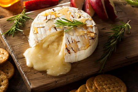 brie: Homemade Baked Brie with Honey and Rosemary