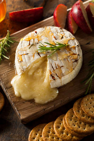Homemade Baked Brie with Honey and Rosemary