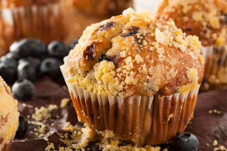 Healthy Homemade Blueberry Muffins for Breakfast photo