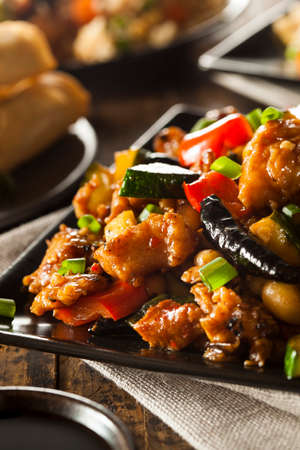 pao: Homemade Kung Pao Chicken with Peppers and Veggies