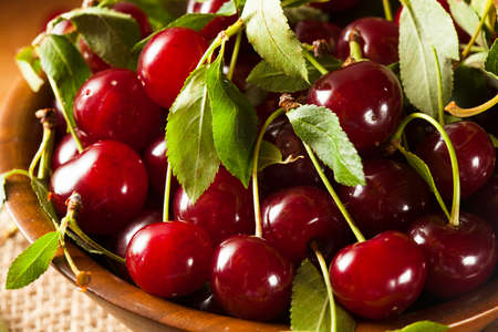 Healthy Organic Sour Cherries in a Bowl