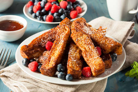 Homemade French Toast Sticks with Maple Syrup photo