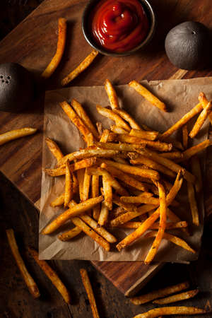 seasoned: Cajun Seasoned French Fries with Organic Ketchup