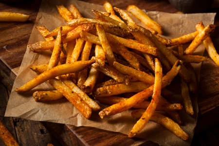 Cajun Seasoned French Fries with Organic Ketchup photo