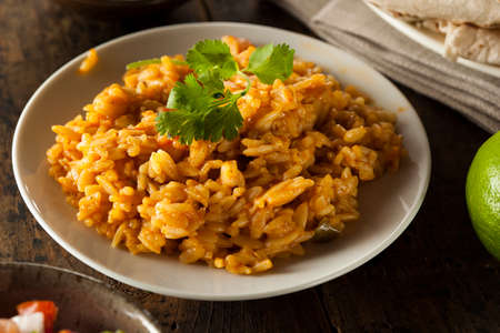 fried rice: Homemade Spicy Mexican Rice with Cilantro and Spices