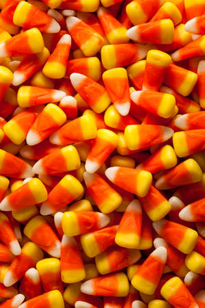 candy corn: Colorful Candy Corn for Halloween on a Background