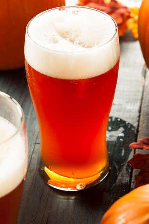 ipa: Frothy Orange Pumpkin Ale Ready to Drink