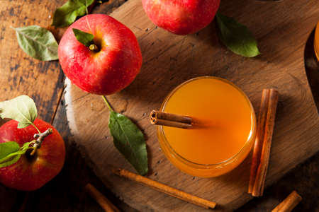 Organic Apple Cider with Cinnamon Ready to Drink Imagens