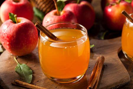 Cidre de pommes biologiques à la cannelle Prêt à Boire Banque d'images - 31672521