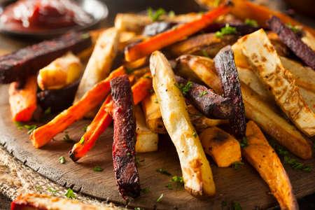 batata: Horno Papas Vegetales al horno con zanahorias, patata y remolacha