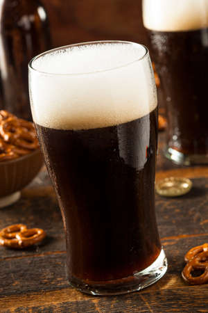 stout: Refreshing Dark Stout Beer Ready to Drink