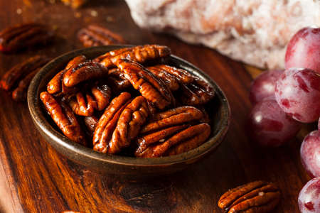 candied: Homemade Candied Pecans with Cinnamon and Sugar