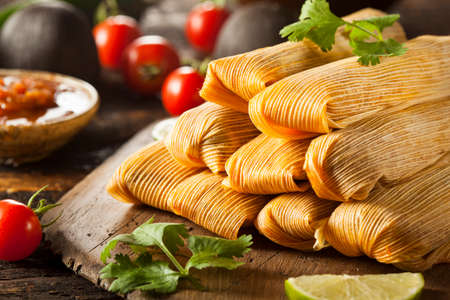 sweet food: Homemade Corn and Chicken Tamales Ready to Eat