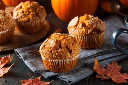 秋かぼちゃの自家製マフィンを食べる準備ができて