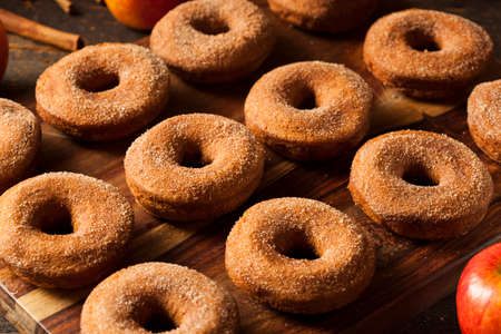 Warm Apple Cider Donuts Ready to Eat photo